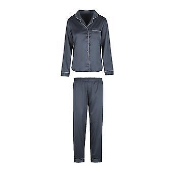 LingaDore Nueve Hierro Jacquard 5507SET-263 Mujeres's Hierro Gris Satin Pyjama Set