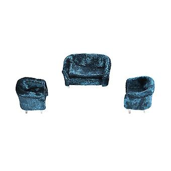 1:20 Miniature Dollhouse Sofa Furniture Décoration Bleu