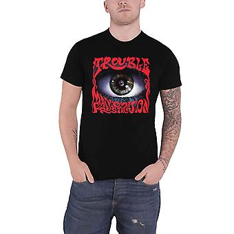 Trouble T Shirt Manic Frustration Band Logo new Official Mens Black