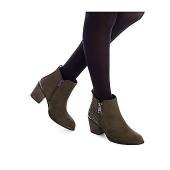 Xti - shoes - ankle boots - 49448_KAKHI - ladies - olive - EU 37