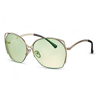 نظارات شمسية المرأة الفراشة Cat.2 الذهب / الأخضر (CWI1352)