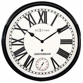 NeXtime 3128zw Amsterdam [Ø51,7 cm, Zwart]