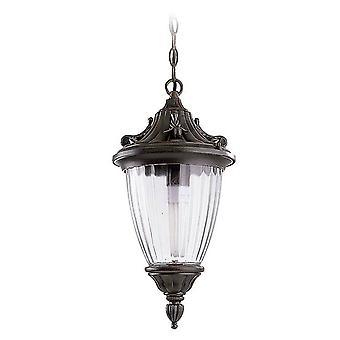 Forlight Adur - 1 Licht Buitenplafond Licht Roestig Brown