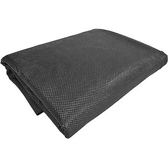 non-slip trunk mat 120 x 100 cm synthetic black