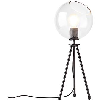 LUZ de mesa AFton brillante luces interiores negras/transparentes, luces de mesa, de decoración de mesa ? 2x A60, E27, 40W, adecuado para