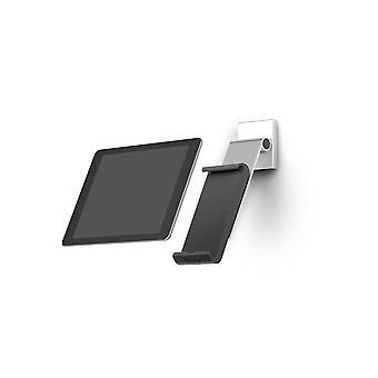 Kestävä 893523 Tabletin seinäkiinnike (tukivarsi 7-13 tuuman tableteille, 360° kierrettävä varkaudenestolla) hopea/antrasiitti