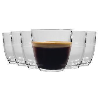 Duralex Gigogne Glass Tumblers - 160ml Gafas de Bebida para Agua, Jugo - Pack de 6