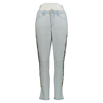 Martha Stewart Femmes's Petite Jeans 2 Pered 5-Pocket Ankle Blue A309527