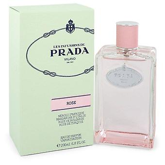 Prada infusion de rose eau de parfum spray par prada 551954 200 ml