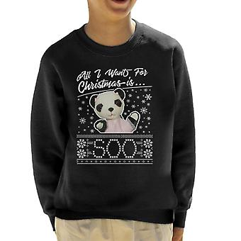 Sooty Christmas All I Want For Christmas Is so Kid's Sweatshirt