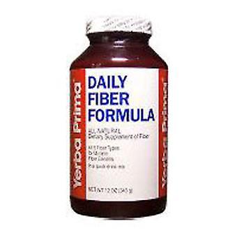 Yerba Prima Daily Fiber Formula, Regular Powder 12 Oz