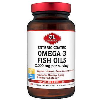 Olympian Labs Enteric Coated Omega 3 Fish Oils, 1g (180EPA/120DHA), 120 sg