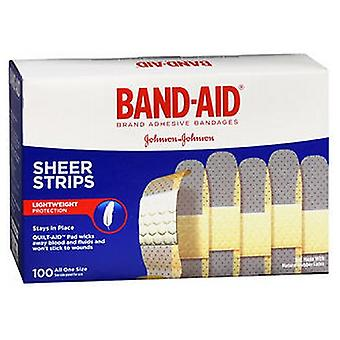 Band-Aid Comfort-Flex Sheer Adhesive Bandages 3/4 X 3In, 100 each