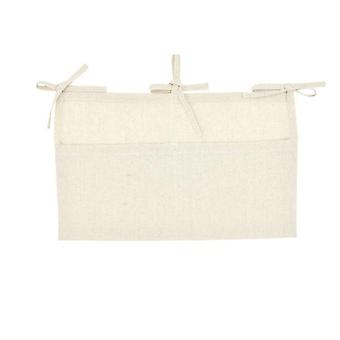 Cotton Baby Crib Hanging Storage Bag - Baby Cot Bed Organizer