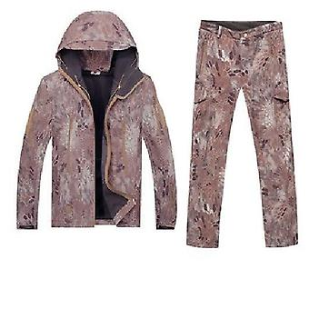 Men Outdoor Sport, Gear Soft Shell Camouflage Tactical Jacket - Waterproof