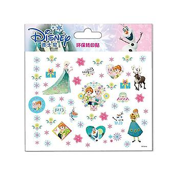 Disney Cartoon Tattoo Sticker- Disney Princess Frozen, Anna Elsa Princess Sofia
