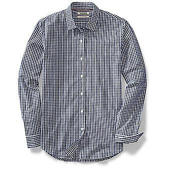 Goodthreads Men's Slim-Fit Langarm Gingham Plaid Poplin Shirt, Navy/Weiß...