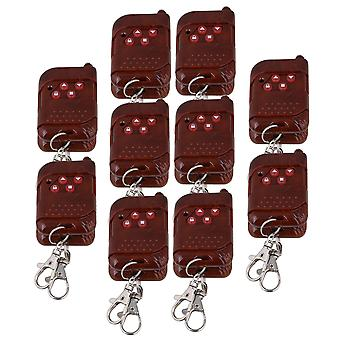 20PCS 433MHz 12V Wireless 4 Channel Relay Remote Control Switch Red Peach Wood