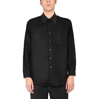 Our Legacy M4202abm Men's Black Wool Shirt