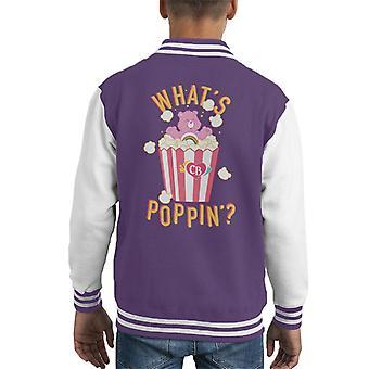 Care Bears Cheer Bear Whats Poppin Kid's Varsity Jacket