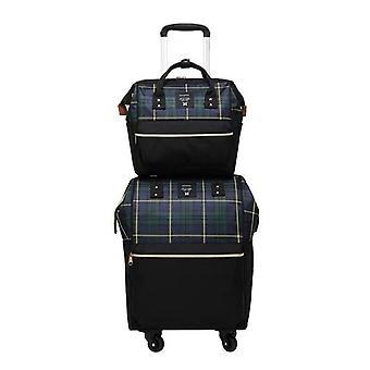 Rullende bagasje bag på hjul tralle kofferter / bag med veske / rullende
