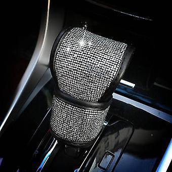 Crystal Car Gear Shift Collar Cover Glitter Auto Hand Covers Car Interior