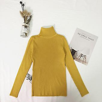 Women's Winter Tops Turtleneck Thin Pullover Jumper Knitted Sweater