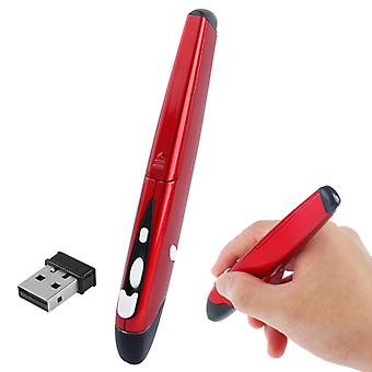 2.4GHz Wireless Pen Mouse avec mini récepteur USB, distance de transmission: 10m (EL-P01)(Rouge)