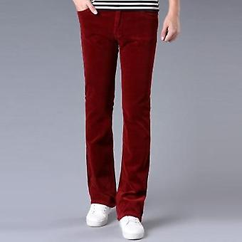 Winter Warm Men's Commercial Casual Bootcut Pants, Corduroy Flared Trousers,