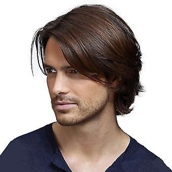 Men & apos;s الشعر القصير مجموعة حصرية لشعر مستعار عبر الحدود الألياف الكيميائية