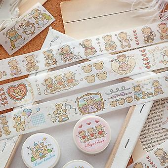 Fairy Tale Bear Series Cute Fresh Decorative Special Oil Paper Masking Washi