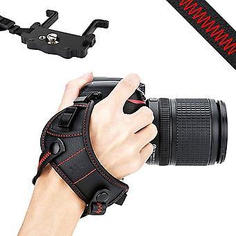JJC DSLR Camera Hand Strap with U Plate Compatible with Nikon D850 D810 D750