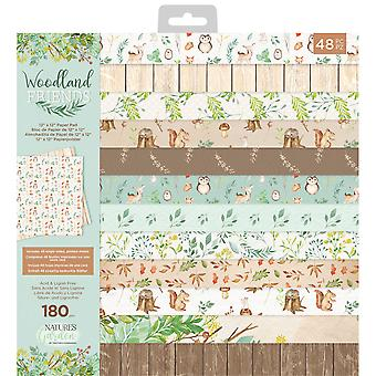 Crafter's Companion Woodland Friends 12x12 Inch Paper Pad