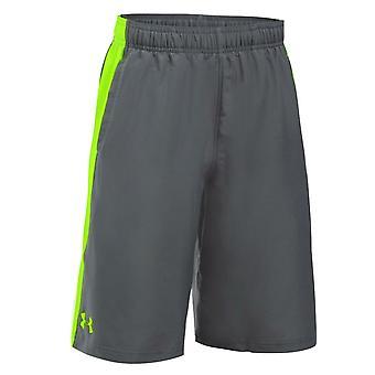Under Armour Boys Impulse Woven Shorts Sports Casual Pants Grey 1291595 040