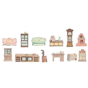Κούκλες Σπίτι 12 έπιπλα κομμάτι που σετ μίνι μινιατούρες 1:48 Κλίμακα 1/4 Ίντσα