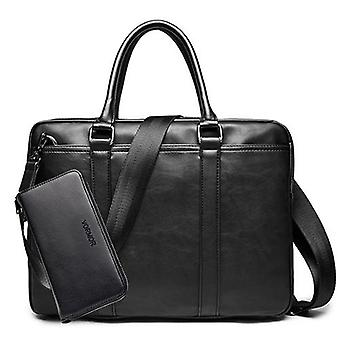 Promotion Simple Famous Brand Business Briefcase Bag Luxury Leather Laptop And