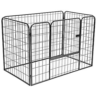Heavy-duty running stable for dogs Black 120×80×70 cm steel