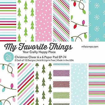 My Favorite Things Christmas Cheer 6x6 Inch Paper Pad