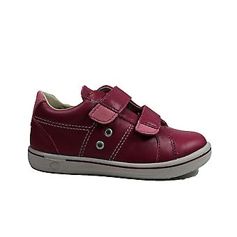 Ricosta Nippy 2623000-323 Pink Leather Girls Rip Tape Shoes