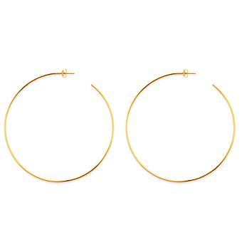 14k goud ronde open hoepel oorbellen, diameter 25 mm