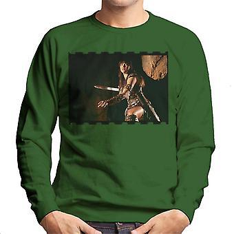 Xena Warrior Princess Fighting Men's Sweatshirt