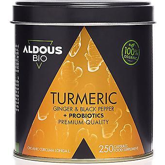 Kurkuma mit Ingwer und schwarzem Pfeffer + probiotische Mischung