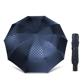 Kaksikerroksinen iso sade taittuva sateenvarjo