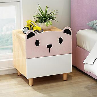 Yöpöydän kaappi sarjakuva makuuhuone saada varastointi massiivipuu karhu kaksinkertainen veto