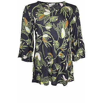 Masai Clothing Bet Green Floral Design Top