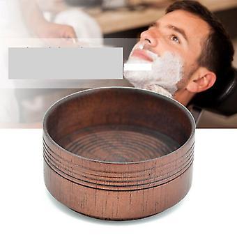 Mannelijke houten baard scheerkom / scheergereedschap
