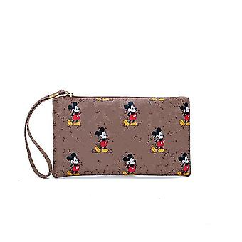 Mickey Mouse Mobile Wallet, Clutch Bag Leather, Coin Purse, Simple Small