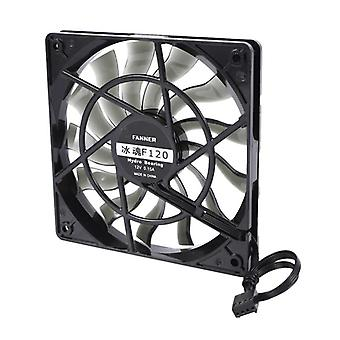 12v Desktop Computer Host Quiet Fan (zwart)