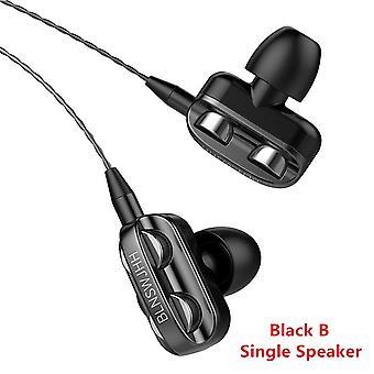 Dual Speaker Wired Earphone Headset For Iphone, Samsung, Xiaomi, Huawei,