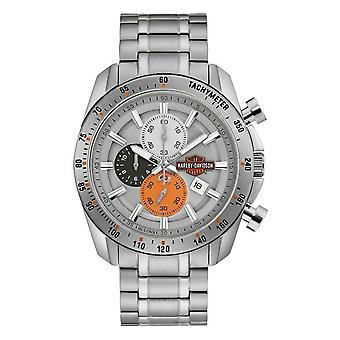 Harley Davidson 76B186 Men's Bar And Shield Chronograph Wristwatch